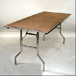 8' Rectangular wooden Banquet Table