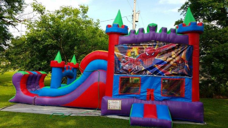 Spider-Man colorful castle combo(wet)