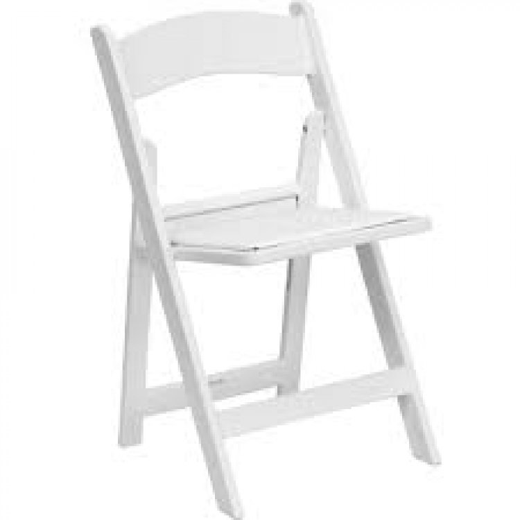 White Resin Padded Chair